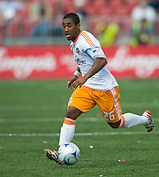 18 July 2009: Houston Dynamo midfielder Corey Ashe #26 in action during a game between the Toronto FC and Houston Dynamo..The game ended in a 1-1 draw..