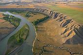 Eroded cliffs along Missouri River