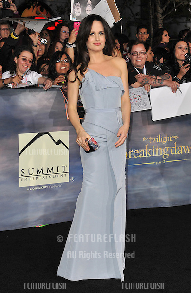 """Elizabeth Reaser at the world premiere of her movie """"The Twilight Saga: Breaking Dawn - Part 2"""" at the Nokia Theatre LA Live..November 12, 2012  Los Angeles, CA.Picture: Paul Smith / Featureflash"""