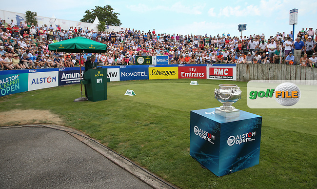 Scene of the first tee ahead of the Final Round of the 2015 Alstom Open de France, played at Le Golf National, Saint-Quentin-En-Yvelines, Paris, France. /05/07/2015/. Picture: Golffile | David Lloyd<br /> <br /> All photos usage must carry mandatory copyright credit (&copy; Golffile | David Lloyd)