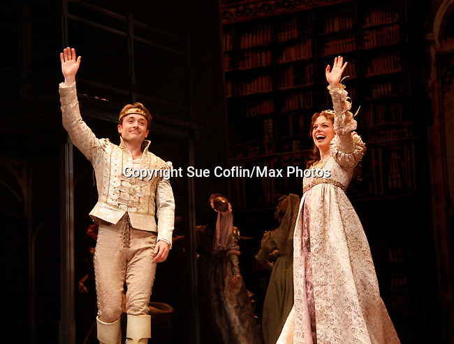 """James Snyder & Margo Seibert - """"Prince Henry and Danielle"""" - Paper Mill Playhouse presents the world premiere of the the new musical Ever After on May 31, 2015 with curtain call followed by gala at Charlie Bowns in Millburn, New Jersey (Photos by Sue Coflin/Max Photos)"""