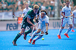 Krefeld, Germany, May 19: During the Final4 Gold Medal fieldhockey match between Uhlenhorst Muelheim and Mannheimer HC on May 19, 2019 at Gerd-Wellen Hockeyanlage in Krefeld, Germany. (worldsportpics Copyright Dirk Markgraf) *** Ferdinand Weinke #4 of Uhlenhorst Muelheim, Dan Nguyen Luong #22 of Mannheimer HC