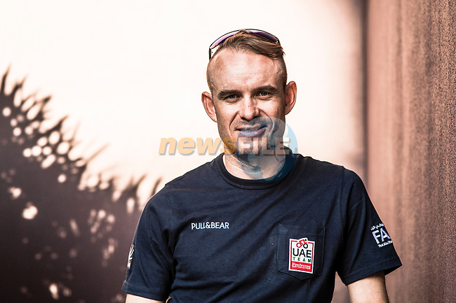 Alexander Kristoff (NOR) UAE Team Emirates at the top riders press conference before the start of 10th Tour of Oman 2019, Muscat, Oman. 15th February 2019.<br /> Picture: ASO/Kåre Dehlie Thorstad | Cyclefile<br /> All photos usage must carry mandatory copyright credit (© Cyclefile | ASO/Kåre Dehlie Thorstad)