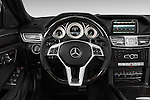 Steering wheel view of a 2014 Mercedes E350 4Matic Wagon