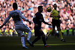 Lionel Andres Messi (R) of FC Barcelona competes for the ball with Carlos Henrique Casemiro of Real Madrid during the La Liga 2017-18 match between Real Madrid and FC Barcelona at Santiago Bernabeu Stadium on December 23 2017 in Madrid, Spain. Photo by Diego Gonzalez / Power Sport Images