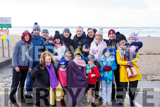 All from Abbeyfeale attending the Fourth Annual Connie Harnett Memorial Swim in Ballybunion on New Years Day.