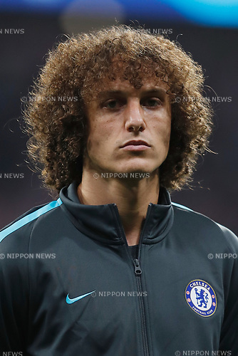 David Luiz (Chelsea), SEPTEMBER 27, 2017 - Football / Soccer : UEFA Champions League Mtchday 2 Group C match between Club Atletico de Madrid 1-2 Chelsea FC at the Estadio Metropolitano in Madrid, Spain. (Photo by Mutsu Kawamori/AFLO) [3604]
