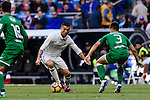 Cristiano Ronaldo of Real Madrid battles for the ball with Unai Bustinza of Deportivo Leganes during their La Liga match between Real Madrid and Deportivo Leganes at the Estadio Santiago Bernabéu on 06 November 2016 in Madrid, Spain. Photo by Diego Gonzalez Souto / Power Sport Images