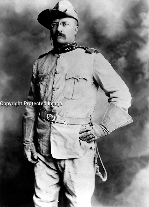 Col. Theodore Roosevelt, 1st Cavalry, U.S.V. Ca. 1898. Rockwood.   (Army)<br /> Exact Date Shot Unknown