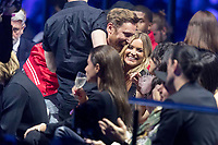 David Guetta chats with collegues during the show of the 2017 MTV Europe Music Awards, EMAs, at SSE Arena, Wembley, in London, Great Britain, on 12 November 2017. Photo: Hubert Boesl <br />