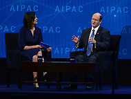 Washington, DC - March 6, 2018: U.S. Senator Chris Coons participates in a interview during the 2018 American Israel Public Affairs Committee (AIPAC) Policy Conference at the Washington Convention Center March 6, 2018.  (Photo by Don Baxter/Media Images International)