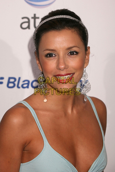 EVA LONGORIA.AT&T's BlackBerry Curve Launch Party at the Beverly Wilshire Hotel, Beverly Hills, California, USA,.31 May 2007..portrait headshot red liptick hairband hair band dangly earrings .CAP/ADM/BP.©Byron Purvis/AdMedia/Capital Pictures.