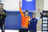 SPEED SKATING: CALGARY: Olympic Oval, 08-03-2015, ISU World Championships Allround, Sven Kramer (NED) en Bart Swings (BEL) gedeeld derde op de 1500m, ©foto Martin de Jong