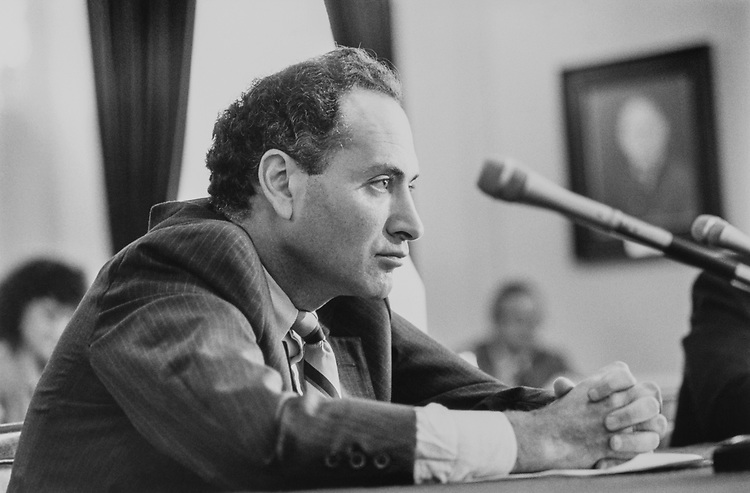 Rep. Chuck Schumer, D-N.Y. at hearing for census on Sep. 13, 1990. (Photo by Maureen Keating/CQ Roll Call via Getty Images)