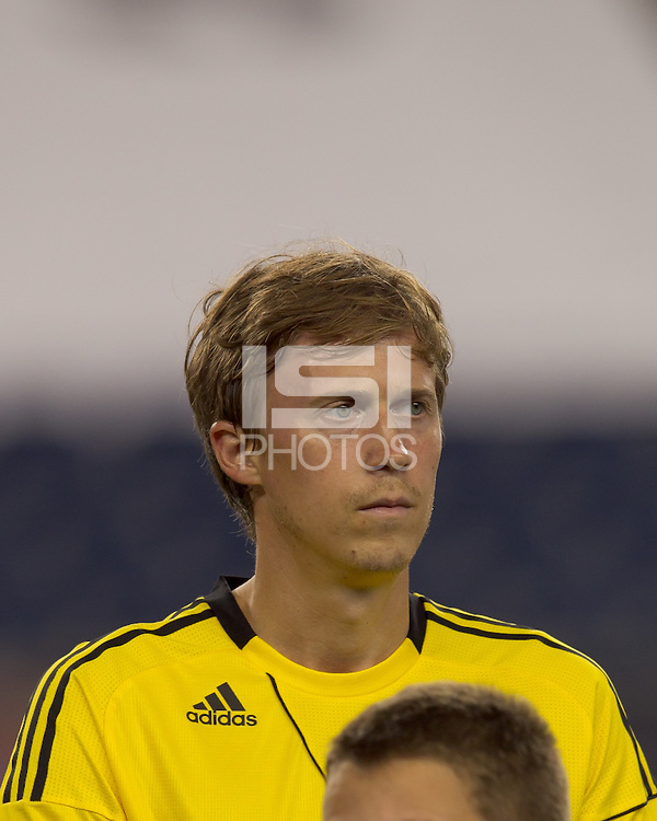 Columbus Crew midfielder Brian Carroll (16). The New England Revolution tied Columbus Crew, 2-2, at Gillette Stadium on September 25, 2010.