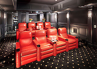 Red Leather Theater Seating