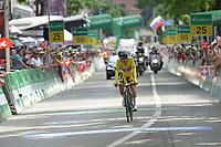 17th June 2018, Tour De Suisse; stage 9 from Bellinzona to Bellinzona; Bmc Racing Team; Porte, Richie takes the championship in Bellinzona;