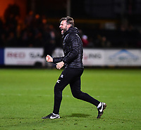 Lincoln City's assistant manager Nicky Cowley celebrates the victory<br /> <br /> Photographer Andrew Vaughan/CameraSport<br /> <br /> The EFL Sky Bet League Two - Cambridge United v Lincoln City - Saturday 29th December 2018  - Abbey Stadium - Cambridge<br /> <br /> World Copyright © 2018 CameraSport. All rights reserved. 43 Linden Ave. Countesthorpe. Leicester. England. LE8 5PG - Tel: +44 (0) 116 277 4147 - admin@camerasport.com - www.camerasport.com