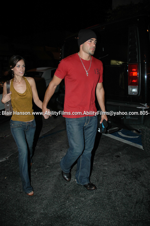 Jesse Metcalf with new girl leaving club Element in Hollywood on 5-23-07 Exclusive.