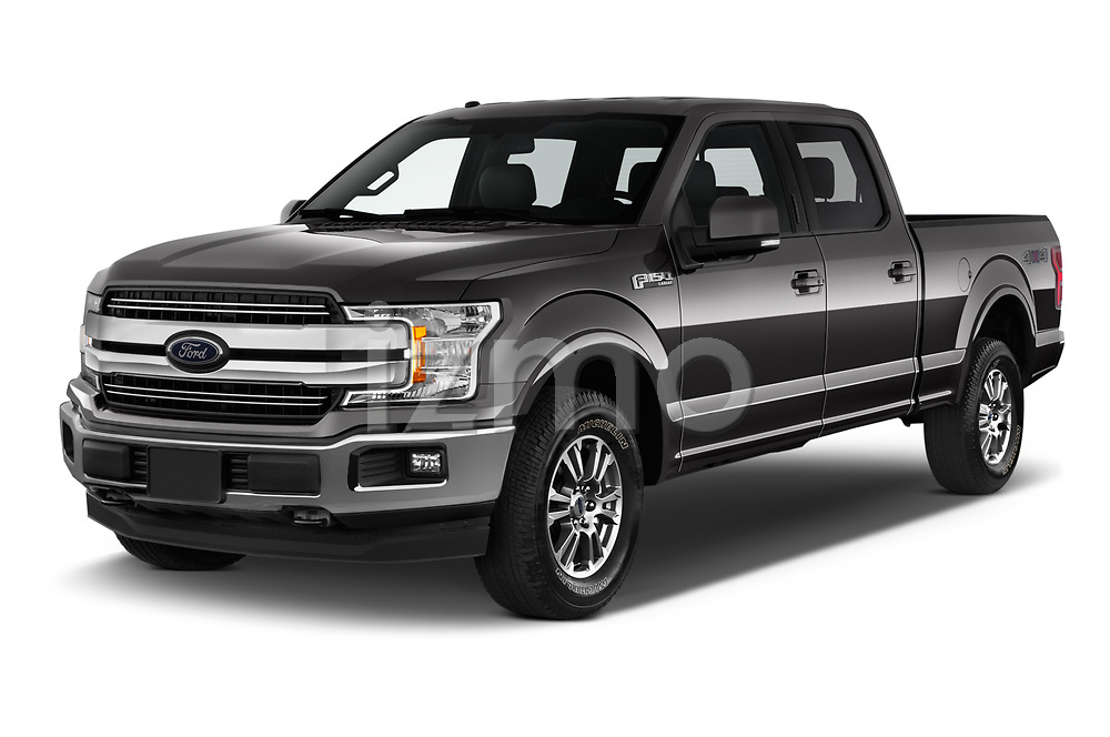 2018 Ford F-150 Lariat 4 Door Pick-up Angular Front automotive stock photos of front three quarter view