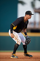 Bradenton Marauders third baseman Hunter Owen (13) during a game against the Dunedin Blue Jays on May 2, 2018 at LECOM Park in Bradenton, Florida.  Bradenton defeated Dunedin 6-3.  (Mike Janes/Four Seam Images)