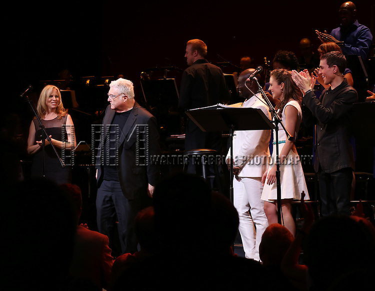 Vonda Shepard, Randy Newman, Isaiah Johnson, Laura Osnes and Tony Vincent during the Curtain Call for the New York City Center Encores! Off-Center production of 'Randy Newman's FAUST' - The Concert at City Center on July 1, 2014 in New York City.