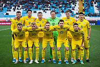 17th November 2019; Stadion Rajko Mitic, Belgrade, Serbia; European Championships 2020 Qualifier, Serbia versus Ukraine; The team of Ukraine line-up - Editorial Use