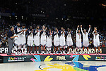 United State´s celebrate the golden medal during FIBA Basketball World Cup Spain 2014 final award ceremony after winning against Serbia at `Palacio de los deportes´ stadium in Madrid, Spain. September 14, 2014. (ALTERPHOTOSVictor Blanco)