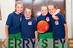 Friends having fun at the Gneeveguilla Basketball Camp last week. <br /> L-R Niamh Cronin, Antoinette O'Leary, Chloe Fitzgerald and Emily O'Riordan.