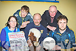 Martina O'Donoghue, Sean Og Ciarbhain, Domo Ciarbhain, Tom Wrenn and Eoin Reidy from the Cordal GAA club who are holding a Video Races and Family Fun day on Monday 19th March