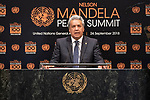 Opening Plenary Meeting of the Nelson Mandela Peace Summit<br /> <br /> Ecvador
