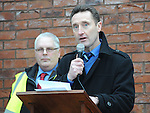 Peter Fitzpatrick TD speaking at the Save St Joseph's hospital march. Photo: Colin Bell/pressphotos.ie
