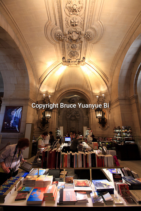 Book Gift shop inside of Opera Garnier. Palais Garnier. City of Paris. Paris