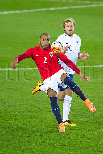 29.03.2016  Ullevaal Stadion, Oslo, Norway Haitam Alesaami of Norway  in action during the International Football Friendly match between Norway and Finland at  Ullevaal Stadion in Oslo, Norway.  Norway ran out 2-0 winners of the game.