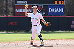 17 February 2017: Notre Dame's Dana Bouquet. The Notre Dame Fighting Irish played the University of Minnesota Golden Gophers at Dail Softball Stadium in Raleigh, North Carolina as part of the ACC/Big 10 College Softball Challenge. Minnesota won the game 4-1