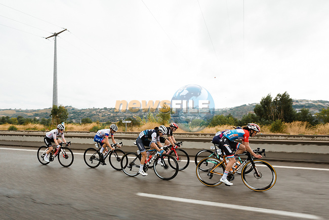 The lead group head for Nice during La Course By Le Tour de France 2020, running 96km from Nice to Nice, France. 29th August 2020.<br /> Picture: ASO/Thomas Maheux   Cyclefile<br /> All photos usage must carry mandatory copyright credit (© Cyclefile   ASO/Thomas Maheux)