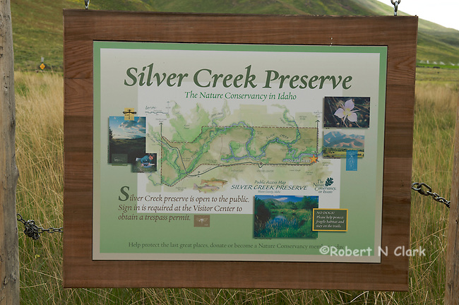 Interpretative signs for the Silver Creek Preserve