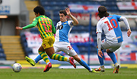 Blackburn Rovers' Darragh Lenihan battles with West Bromwich Albion's Matheus Pereira<br /> <br /> Photographer Dave Howarth/CameraSport<br /> <br /> The EFL Sky Bet Championship - Blackburn Rovers v West Bromwich Albion - Saturday 11th July 2020 - Ewood Park - Blackburn <br /> <br /> World Copyright © 2020 CameraSport. All rights reserved. 43 Linden Ave. Countesthorpe. Leicester. England. LE8 5PG - Tel: +44 (0) 116 277 4147 - admin@camerasport.com - www.camerasport.com