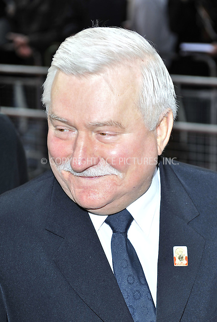 WWW.ACEPIXS.COM . . . . .  ..... . . . . US SALES ONLY . . . . .....March 30 2011, London....Former Polish president Lech Walesa arriving at the Gorby 80 Gala to Celebrate Mikhail Gorbachev's 80th birthday at the Royal Albert Hall on March 30, 2011 in London, England.....Please byline: FAMOUS-ACE PICTURES... . . . .  ....Ace Pictures, Inc:  ..tel: (212) 243 8787 or (646) 769 0430..e-mail: info@acepixs.com..web: http://www.acepixs.com