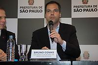 SAO PAULO, SP, 10.04.2016 -DORIA-SP- O prefeito de São Paulo João Doria Jr. acompanha do seu vice Bruno Covas durante balanço dos 100 dias de governo municipal, realizado no na sede prefeitura de São Paulonesta segunda-feira (10). (Foto: Danilo Fernandes/Brazil Photo Press)