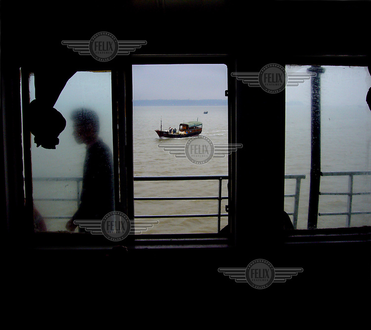 A ferry on the Hainan Strait between Xuwen and Haikou.