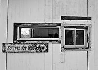 Abandoned Burger Joint Drive-Thru Window in Logan, NM