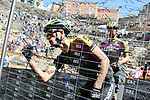 Simon Yates (GBR) Mitchelton-Scott signs on before the start of Stage 4 a 202km very hilly stage running from Catania to Caltagirone, Sicily, Italy. 8th May 2018.<br /> Picture: LaPresse/Gian Mattia D'Alberto | Cyclefile<br /> <br /> <br /> All photos usage must carry mandatory copyright credit (&copy; Cyclefile | LaPresse/Gian Mattia D'Alberto)