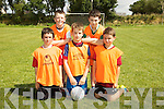 Joseph Buttimer, Paul Brown, Ryan Fleming, Danny Quinn, Cian Lyons enjoying the Camp Cash Cow family fun Day on Sunday