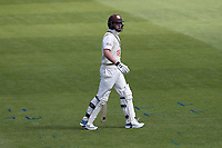 Ollie Pope of Surrey leaves the field having been dismissed for 4 during Surrey CCC vs Essex CCC, Specsavers County Championship Division 1 Cricket at the Kia Oval on 11th April 2019