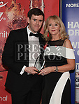 Mariea Huston presents the February award to Paraic Smith at the Drogheda Independent Sports Star Awards in the Westcourt Hotel.  Photo:Colin Bell/pressphotos.ie