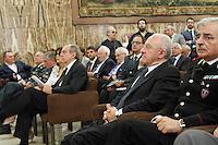 Il Governatore della Campania Vincenzo De Luca e il Ministro dell'economia  Pier Carlo Padoan partecipa al Convegno sul mezzogiorno alla fondazione Banco iNapoli