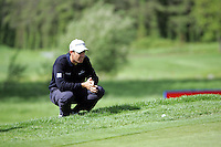 Padraig Harrington lines up his chips on the 10th green on during the third round of the Irish Open on 19th of May 2007 at the Adare Manor Hotel & Golf Resort, Co. Limerick, Ireland. (Photo by Eoin Clarke/NEWSFILE)..