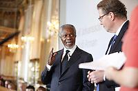Seminarium om ungt värdebaserat ledarskap på Slottet med Scouterna och Kungen och Kofi Annan.