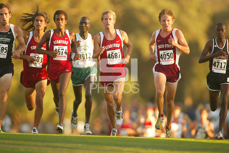 24 September 2005: Forest Tahdooahnippah, Neftalem Araia, and Brett Gotcher and  during the Stanford Invitational at the Stanford Golf Course in Stanford, CA.